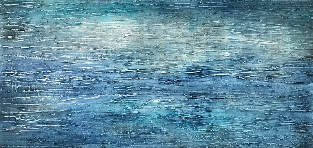Abstract Seascape original oil painting by Malcolm Bowling